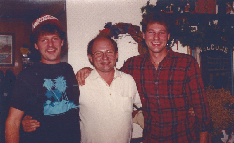 Mike Jenkins with friends