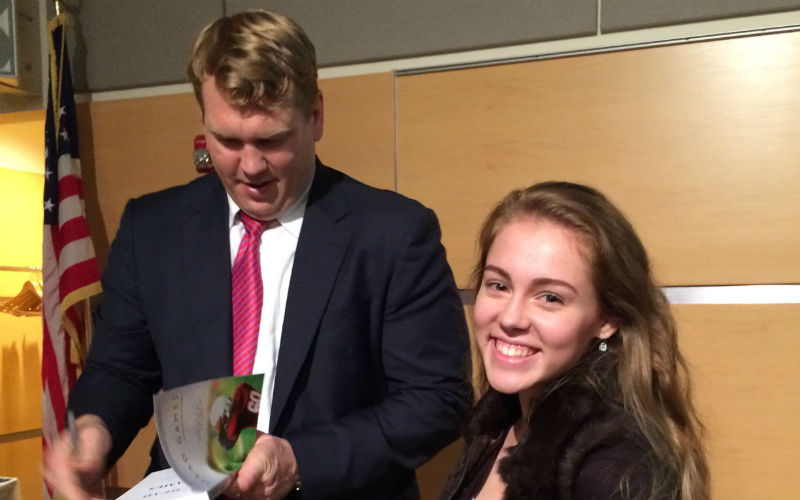 Brooke Mills with Chris Nowinski